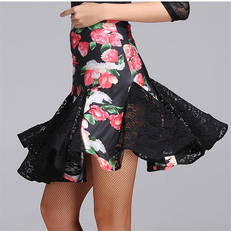New Latin Dance Skirt For Women Girls Performances Print