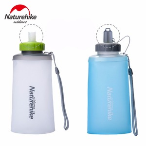 Image 3 - 500ml 750ml Naturehike Ultralight Outdoor Camping Drinkware Sport Water Bag Portable Hiking Bottle Foldable Drink Straw Kettle