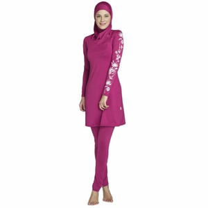 Image 2 - YONGSEN 2020 New Burkinis Muslim Swimsuit Modest Clothing Islamic 3 Pieces Separated Women Wear Long muslimah Swimwear Hijab