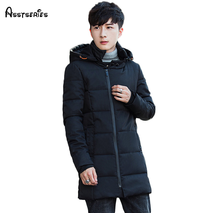 2018 Free Shipping Winter New Mens Hooded Cotton Coat Slim Mens Leisure Korean Youth Thick Cotton Winter Warm Parka D105
