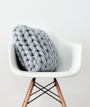 Creativity Chunky Thick Line Pillow Handmade Knotted Knot Ball Home Decoration Couch Cushions Round Wool Toys