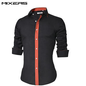 2018 Brand Design Casual Shirt Men Long Sleeve Slim Fit Cotton Dress Shirts  Men Black Office Formal Men Shirt Plus Size 5XL bb648f3bb21