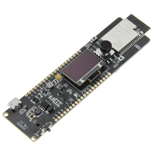 LILYGO®TTGO t controller ESP32 WROVER 4MB SPI Flash y 8MB PSRAM 0,96 OLED Botón de cinco vías 18650 soporte de batería