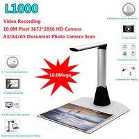 Gratis verzending! L1000 HD A3 A4 A5 10 Mega 3672*2856 Document Boek Foto ID Scanner Camera USB A3 Document Scanner Camscanner