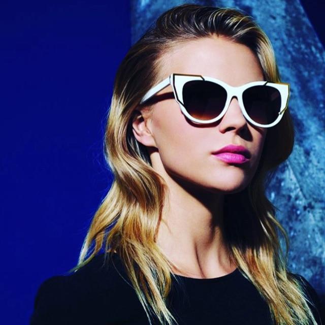 6754a902da92 Contain Rose Gold!SOLO TU Metrol Fashion Cateye Handsome Big Frame Sunglasses  Women Men Eyewear Glasses Multicolor UV400-Proof