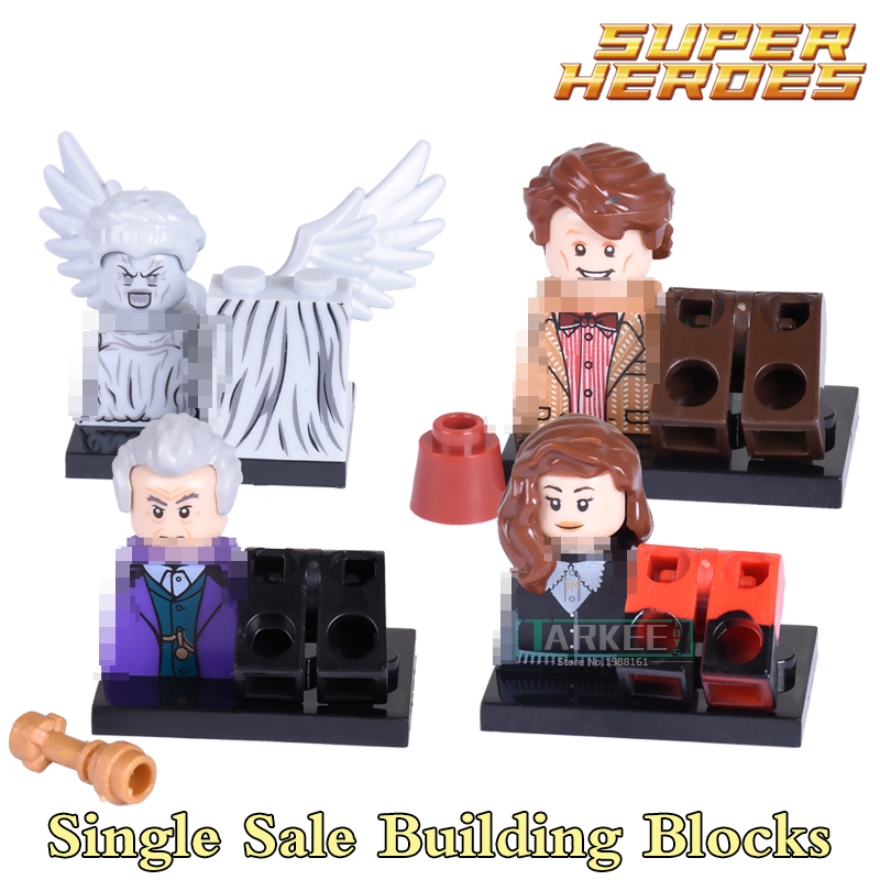Building Blocks Doctor Who Clara Oswald The Weeping Angels Super Heroes Action Bricks Kids DIY Educational Toys Hobbies PG8038 santa clara