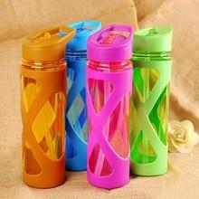 580 мл герметичная соломенная Спортивная бутылка для воды Нескользящая термостойкая пластиковая шейкер для протеинового порошка посуда для фитнеса