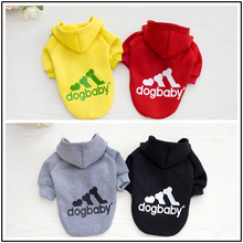 Fashion Pet Apparel Dog Clothes Small Dogs Coat With Hooded Spring Autumn Winter Pet Sportwear Sweatercoat For 4 Colors
