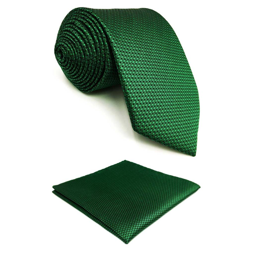 F5 Green Solid Dots Men Neckties Set Wedding Fashion X-long Ties For Male Silk Hankies