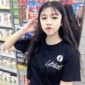 Coréia do sul ulzzang simples os amantes de Harajuku BF vento estudantes traje roupas soltas das mulheres de verão