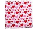 Envío Gratis 2017 Nuevo Mujeres de La Manera Linda Rosa Roja del Amor Del Corazón de Impresión Pañuelos Bufanda Banda de Pelo Para Las Niñas