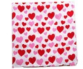 Free Shipping 2017 New Fashion Women Cute Pink Red Love Heart Print Bandanas Hair Band Scarf For Girls