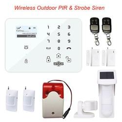 Bezprzewodowy system alarmowy Home włamywacz panel alarmu bezpieczeństwa z czujnikiem ruchu PIR wykrywacz zasilania słonecznego King gołąb K9N w Zestawy systemów alarmowych od Bezpieczeństwo i ochrona na