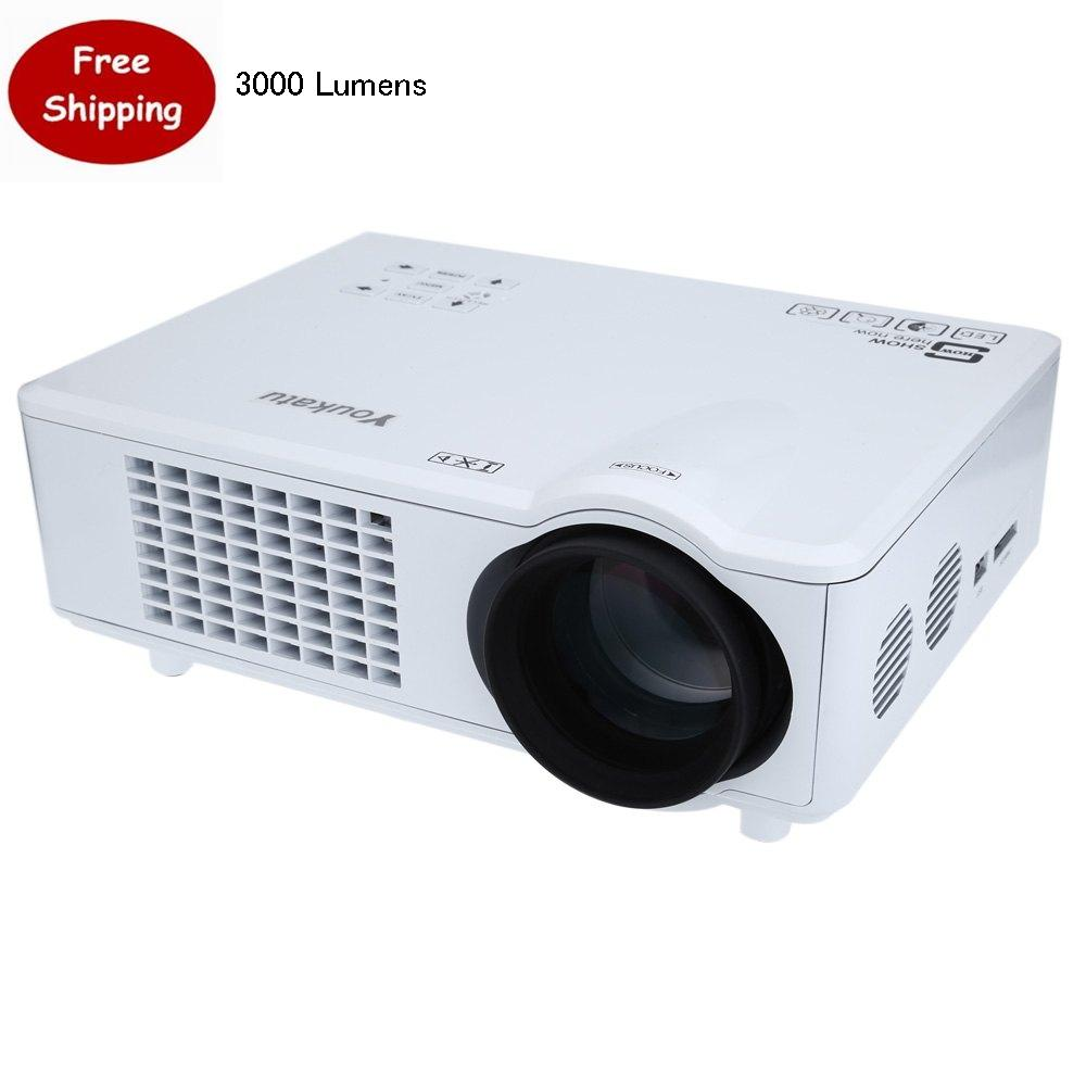 3000 Lúmenes Youkatu T928 FHD 1080 P Proyección de Cine En Casa Proyector de Cin
