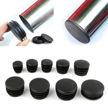 цена на 10Pcs Black Plastic Furniture Leg Plug Blanking End Cap Bung For Round Pipe Tube Hot-selling
