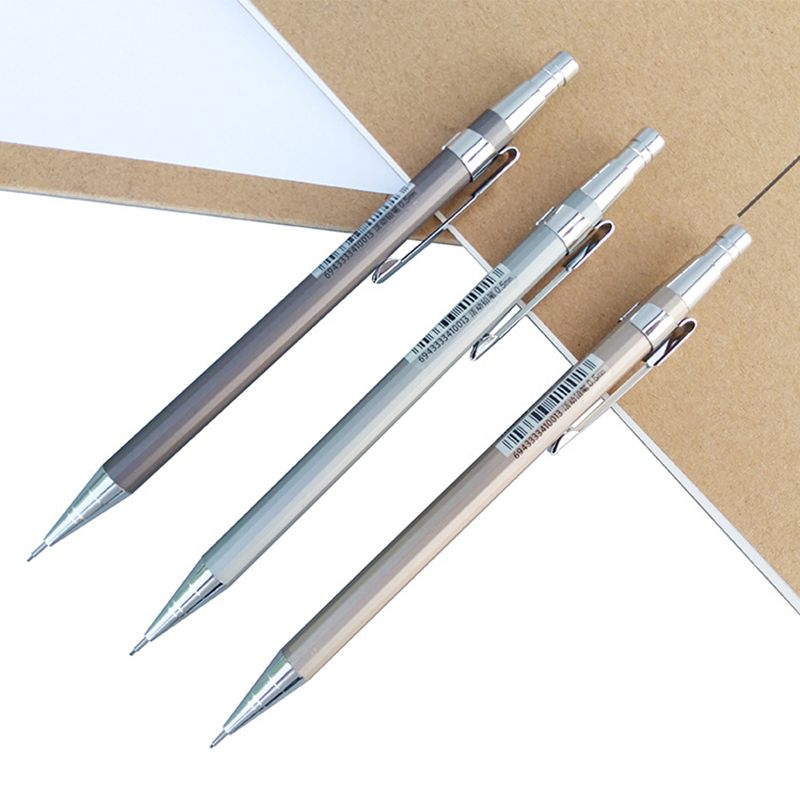1 Piece Metal Mechanical Pencil Student Test Activity Pencil 0.5 / 0.7 Automatic Pencil Stationery