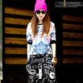 #3328 Spring Summer 2016 Harajuku Loose 3d T shirt Hip hop t shirts women  Fashion Women clothing Streetwear