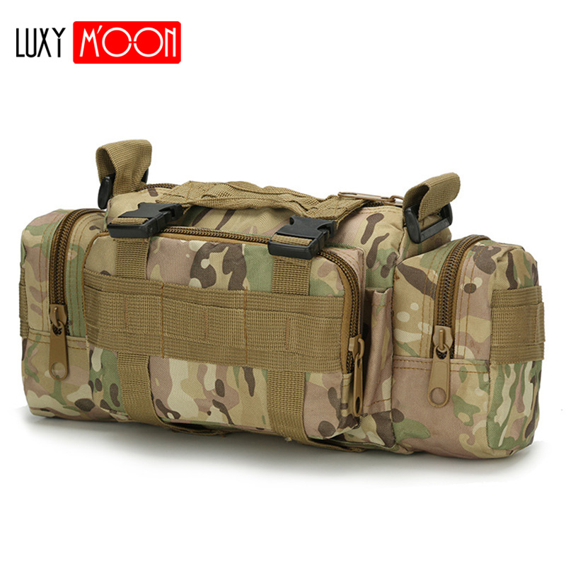 Oxford Men Travel Bag Outdoor Military Tactical Waist Bag Waterproof Camping Hiking Backpack Pouch Hand Bag XA140K
