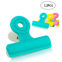 Colorful Chip Bag Clips, L/M/S Heavy-Duty Clips Pet Food Storage Sealing Chip Clips,Photo Holder Clips Clamps недорого