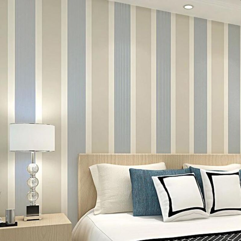 China Wholesale Modern Striped Wallpaper 3d Living Room Decor Wide Stripes Wall Paper Bedroom Decoration Mural Behang Ez197 Wallpapers Aliexpress