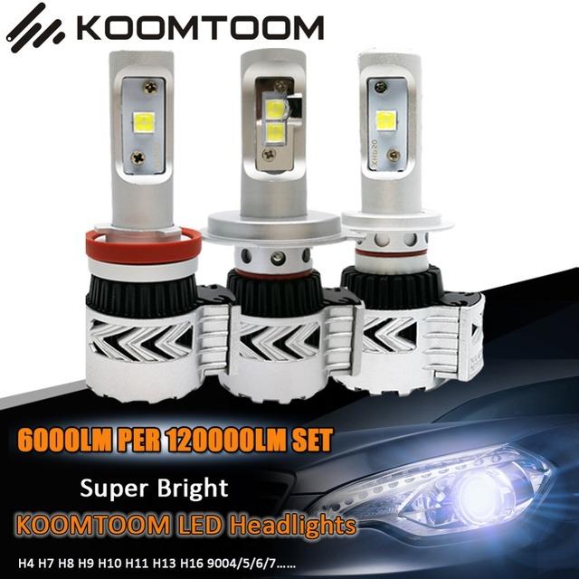 1 Unidades H8 LLEVÓ La Linterna H7 LED Headlight Kit 30000 Hrs 12000LM H4 Bombilla LED H1 H3 9005 9006 9007 H7 H16 Bombilla LED luz