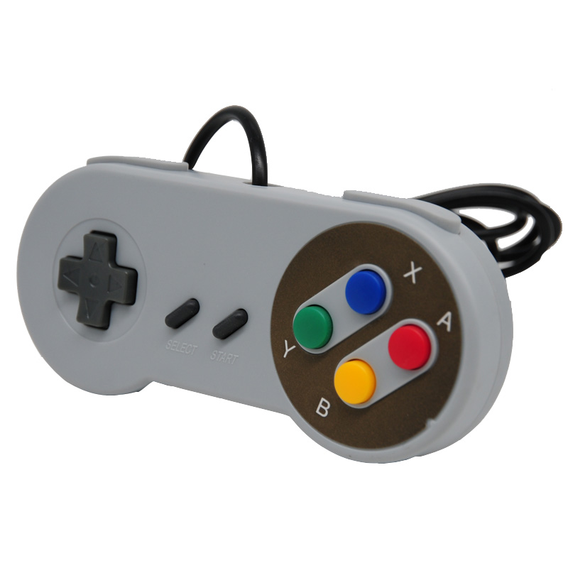 Retro Wired USB Controller Gamepad For SNES Style For PC Windows 7/8/10 Gaming Joypad Joystick For Mac System