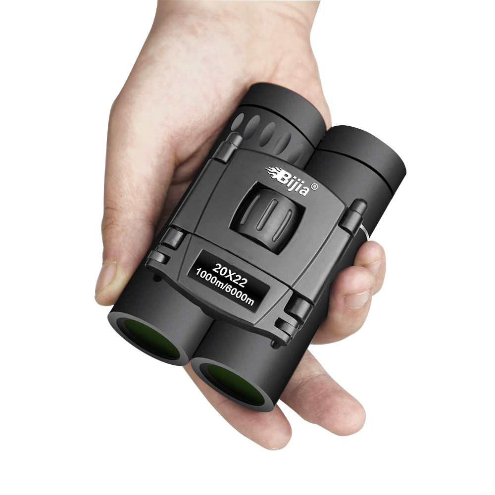 Image 2 - BIJIA HD 20x22 Binoculars Professional Hunting Mini Folding Pocket Telescope BAK4 FMC Optics High Quality Vision Outdoor Gifts-in Monocular/Binoculars from Sports & Entertainment