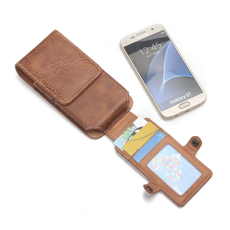 """Luxury Stone Pattern PU Leather Case For samsung galaxy a5 2016 s7 edge j7 5.5"""" Below Shell Hook Loop Belt Pouch With Card Slots"""