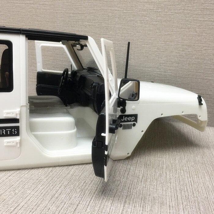 1 set wrangler 자동차 쉘 313mm 휠 거리 자동차 하드 바디 셸 엔진 후드 커버 + 전면 입구 얼굴 1/10 rc 자동차 부품-에서부품 & 액세서리부터 완구 & 취미 의  그룹 3