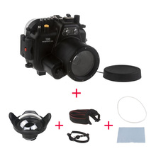 SeaFrogs 40M Underwater Camera Housing Case for Canon EOS 80D Waterproof Bags Case + WA-006 Wire Angle Dome Port for Canon 80D