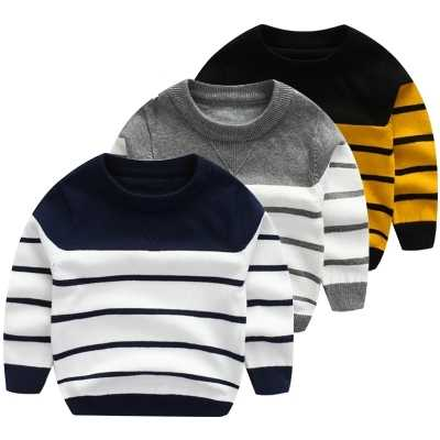 2-8y children knitted sweaters autumn and winter pullovers o-neck cotton kids clothing causal boys and girls clothes sweater