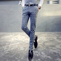 Lycra men's casual straight trousers loose autumn thick middle-aged business career suit pants iron