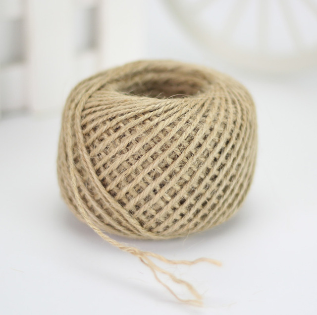 Jute Twine 30Meter Natural Sisal 2mm Rustic Tags Wrap Wedding Decoration Crafts Twisted Rope String Cord Events Party Supplies 2