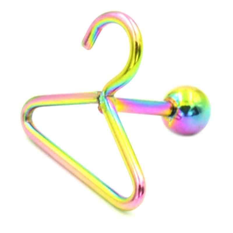 4 สี 1 ชิ้นสแตนเลสแขวนเสื้อผ้า Ear Stud ต่างหูอุปกรณ์เสริมหูเล็บกระดูก