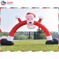6 м span гигантские надувные Санта Клаус арки рождественские украшения для дома