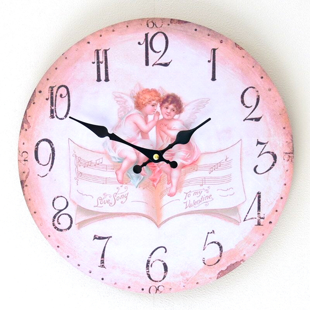 35CM Angle Wood Wall Clock Kitchen Electronic large Decorative Wall Clocks Gifts Home Decor