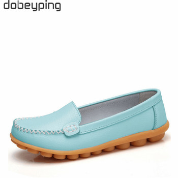 dobeyping New Spring Autumn Shoes Woman Genuine Leather Women Flats Slip On Women Loafers Moccasins Female Shoe Plus Size 35-44 1