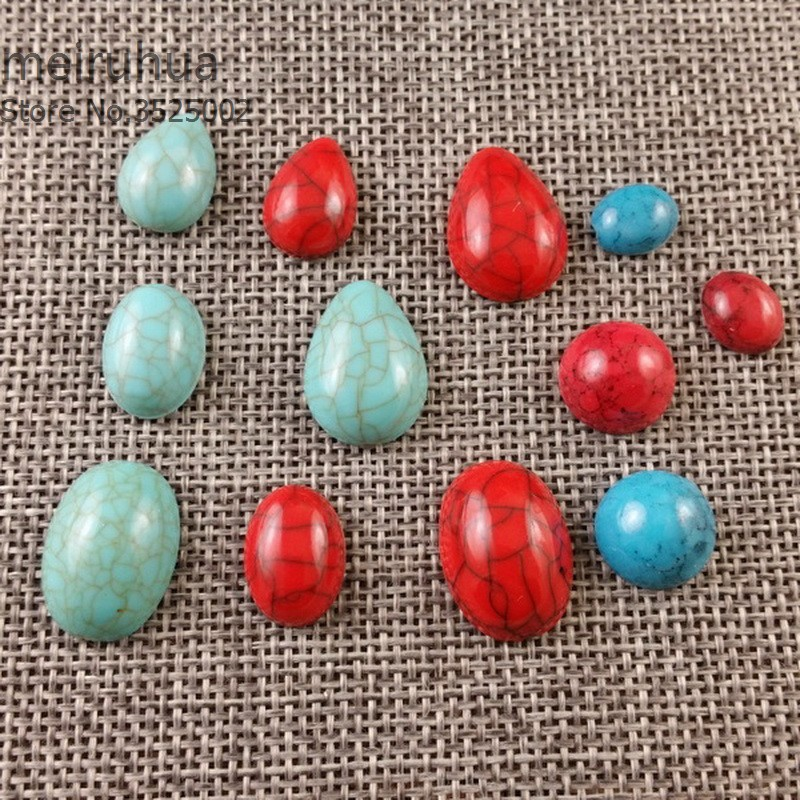 Imitation Turquoiser cabochons headwear accessories Jewelry DIY Components