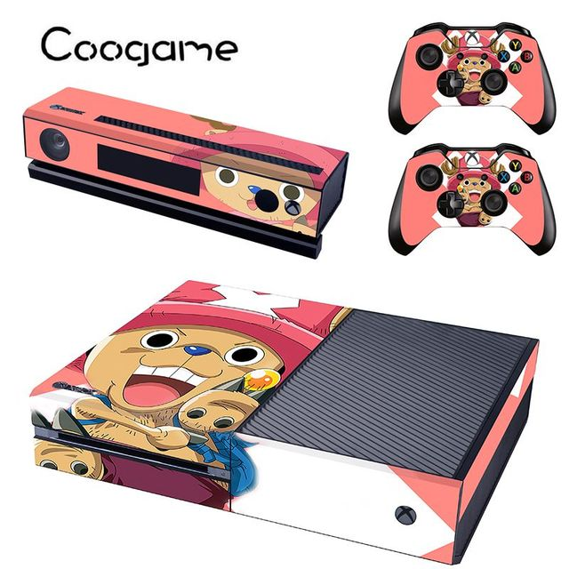 One piece chopper sticker for microsoft xbox one console high clear skin controller oem accessory for