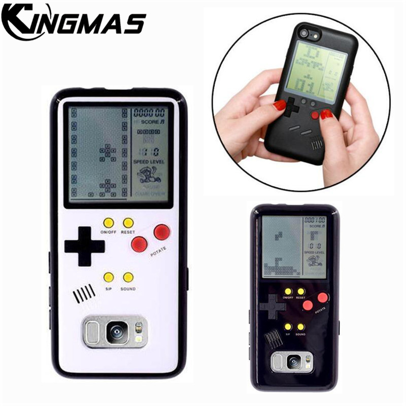 Retro Gameboy Tetris Phone Case For Samsung Galaxy S8 S9 Plus Play Game Console Cover Gift Fitted Siliconen mobile shell coque