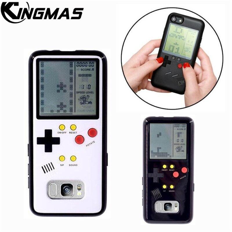 Retro Gameboy Tetris Telefon Fall Für Samsung Galaxy S8 Spielen Spiel Konsole Abdeckung Geschenk Ausgestattet Siliconen mobile shell coque