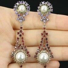 ФОТО gorgeous green emerald, cz ladies wedding 925 silver earrings gift