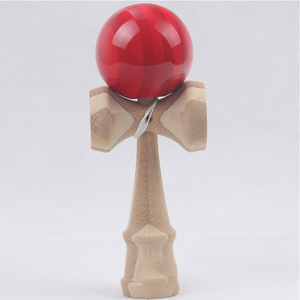 Image 3 - 1 Piece Professional Bamboo PU Paint Wooden Kendama Balls Skillful Jumbo Kendama Outdoors Juggle Game Balls Toys for Gifts
