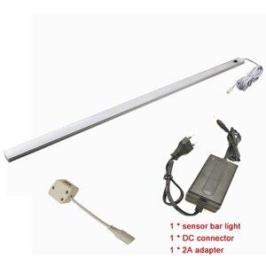 Image 4 - Lámpara led de 50CM con Sensor de movimiento PIR, luz nocturna para debajo del armario, armario, 12V CC, Blanco/blanco cálido