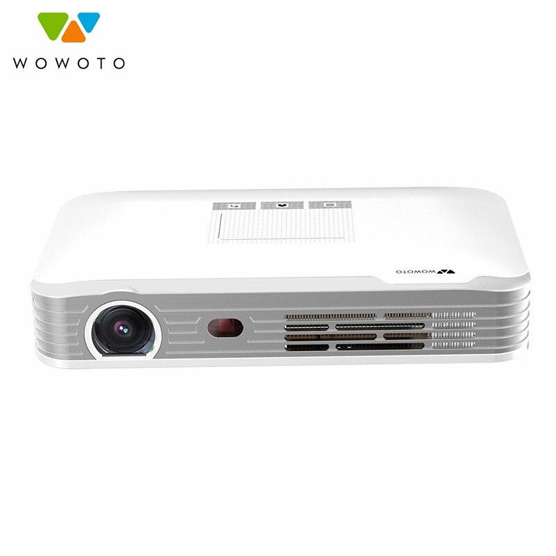 WOWOTO Projecteur 1080 P Résolution Wi-Fi Bluetooth 600 Ansi led Portable HD Beamer pour Home Cinéma Électrique en se concentrant T8e
