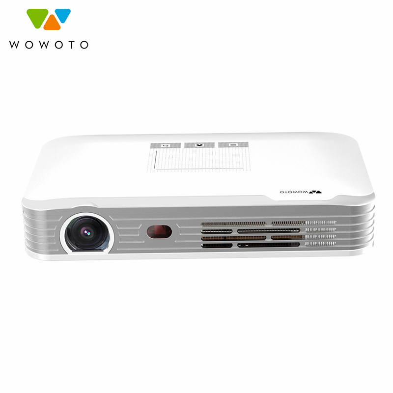 WOWOTO proyector 1080 P Wi-Fi Bluetooth 600 Ansi portátil LED Beamer HD para cine en casa de enfoque T8e