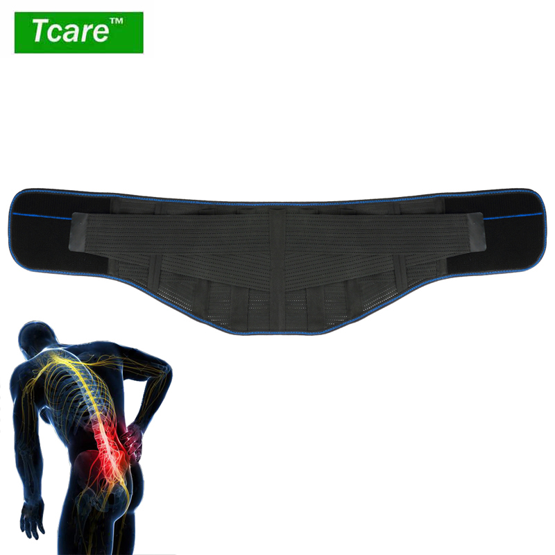 Tcare Lumbar Back Waist Brace Support Belt - Helps Relieve Lower Back Pain with Sciatica, Scoliosis Herniated and Slipped Discs