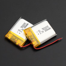 502025 Mini Lithium Battery 3.7v 200mAh for GPS MP3 MP4 Mid Bluetooth Smart Watch Headphone Li-polymer Rechargeable Batteries(China)