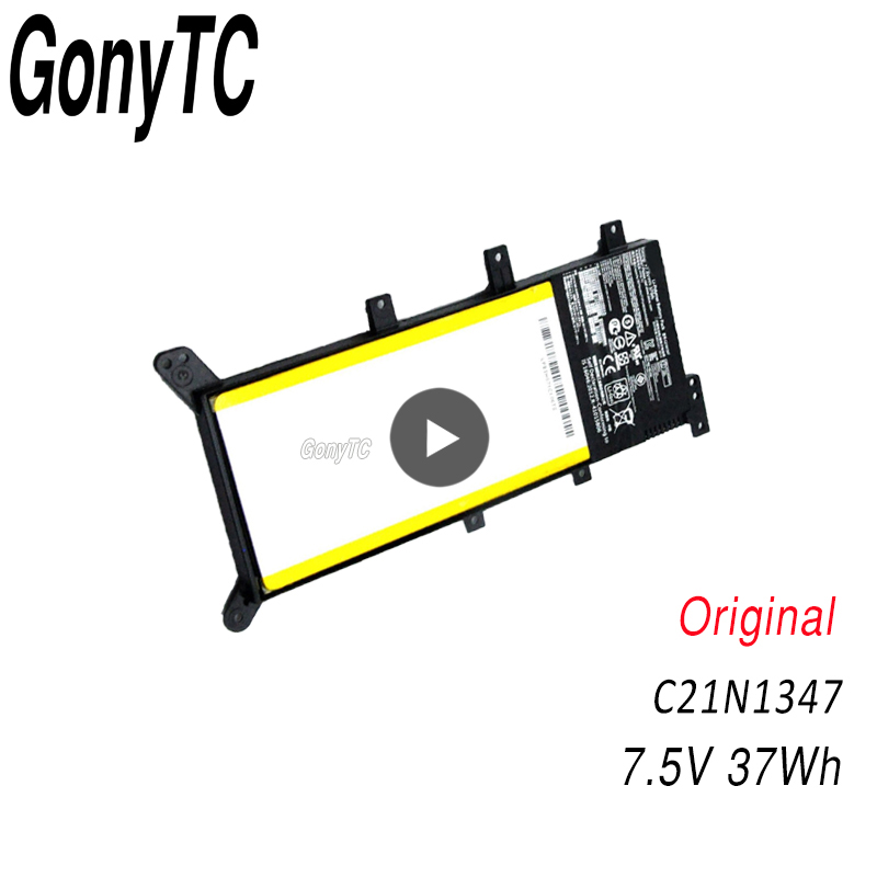 GONYTC 7 5V 37WH C21N1347 New Original Laptop Battery For ASUS X554L X555 X555L X555LA X555LD