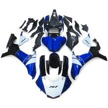 Сине-белые Черный ABS впрыска мотоциклетные Обтекатели для Yamaha YZF R1 15 16 YZF-R1 2015 2016 полный комплект обтекателя капоты Carene новый